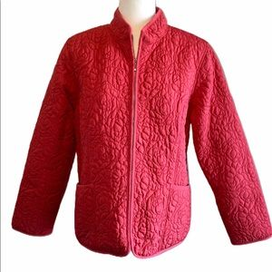 NEW! WOMENS large SUSAN BRISTOL quilted ZIP jacket